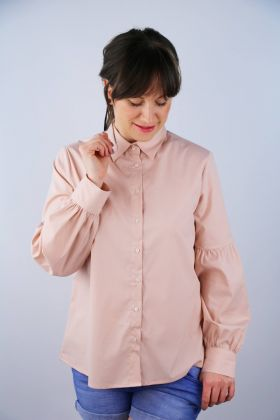 Rosa Bluse in A-Linie
