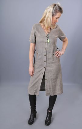 Leinenkleid Chambray-Pepper