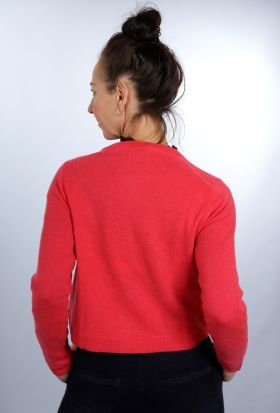 Kurzstrickjacke cherry