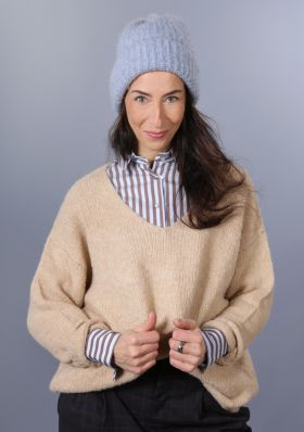 Strickpullover light taupe